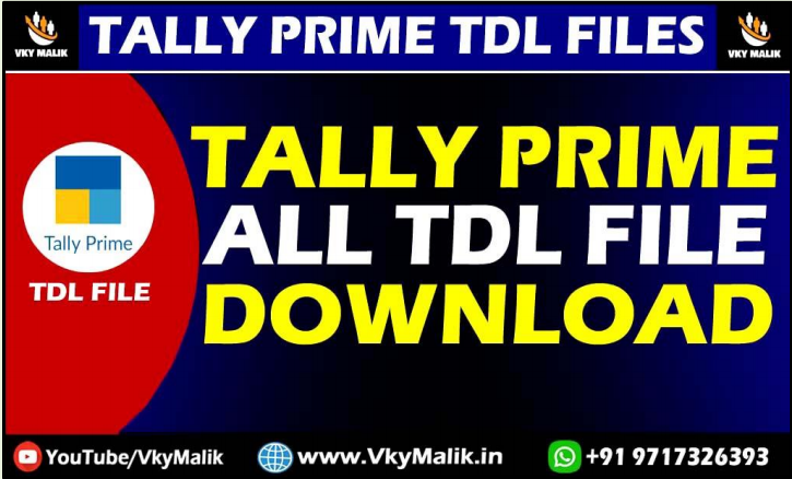 Tally Prime All TDL Files Free Download