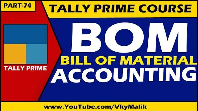 Bill of Material Entry in Tally Prime | Manufacturing Entry in Tally Prime