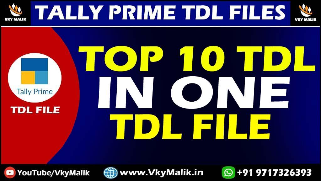 Top 10 TDL Files in One TDL File in Tally Prime | Tally Prime All Free TDL Files Download | Free TDL