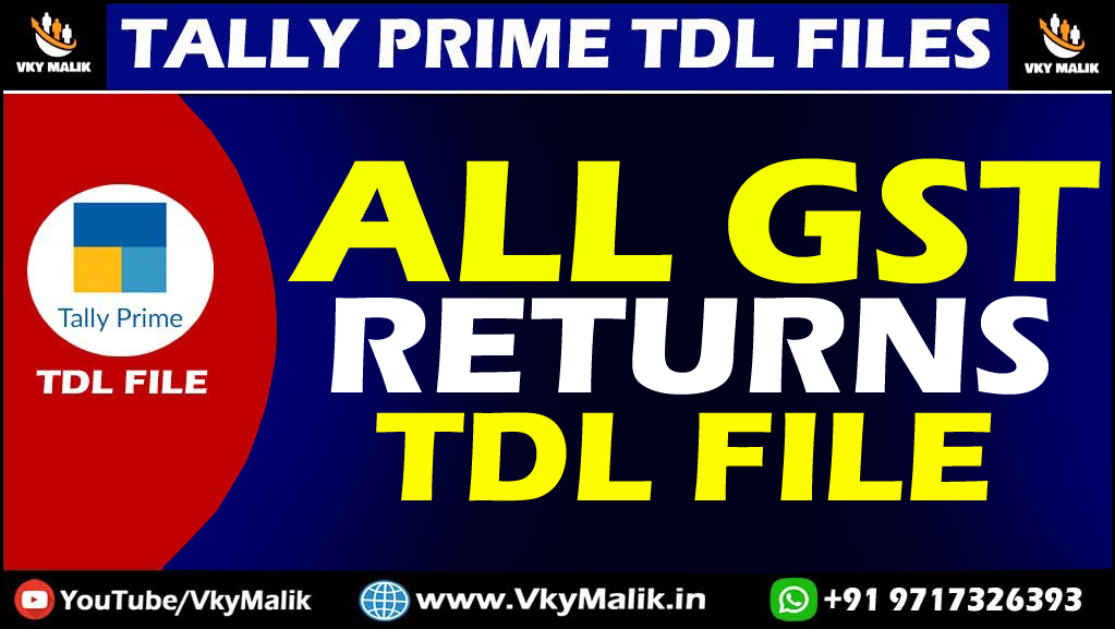 GST Returns TDL File in Tally Prime | Tally Prime Free TDL Download | Free TDL For Tally Prime