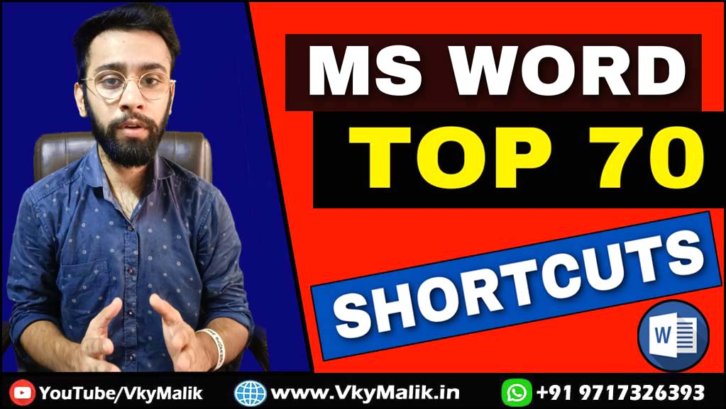 MS Word All Shortcut Keys | MS Word A to Z Shortcut Keys | MS Word Top 70 Shortcut Kyes #shortcutkey